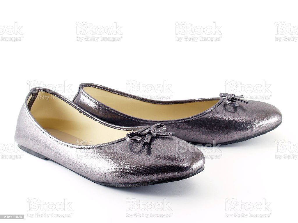Low-heeled shoes for women stock photo
