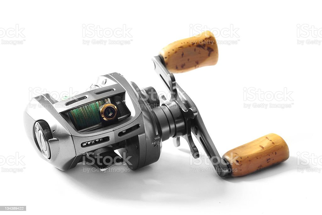 Low-profile casting reel stock photo