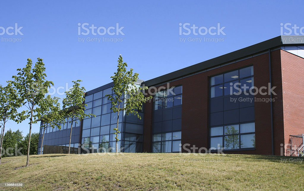 lowrise office building stock photo