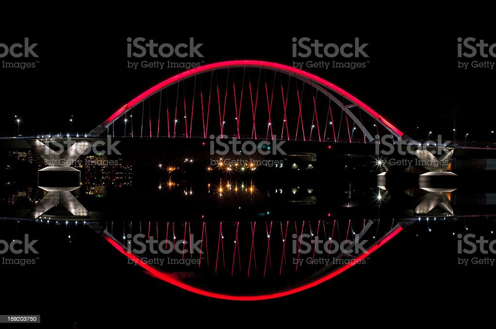 Lowry Avenue Bridge and River at Night royalty-free stock photo
