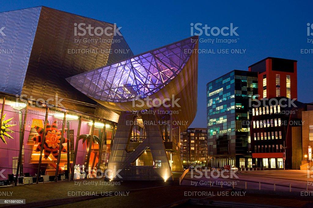 Lowry Centre - Salford Quays - England stock photo