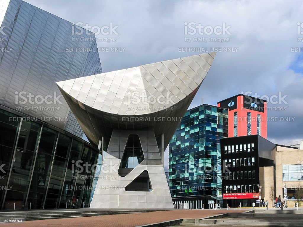 Lowry Plaza, Salford Quays, Manchester stock photo