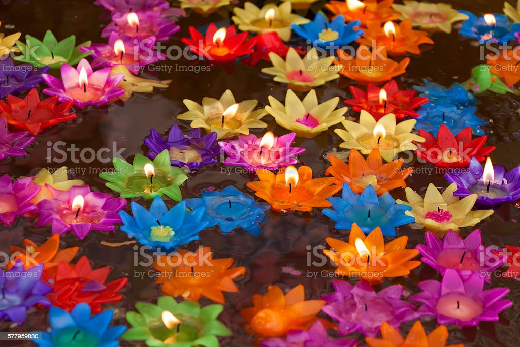 Loy Kratong Festival stock photo