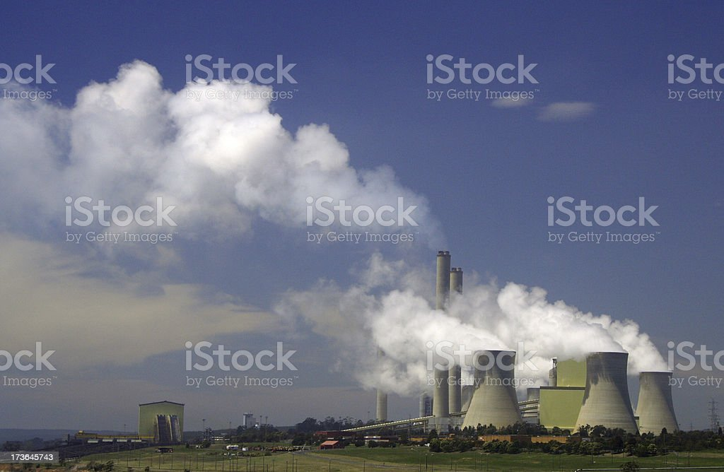 Loy Yang brown coal power station stock photo
