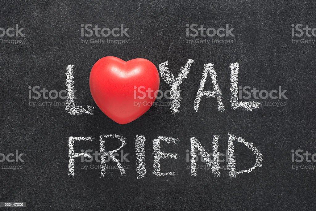 loyal friend heart stock photo