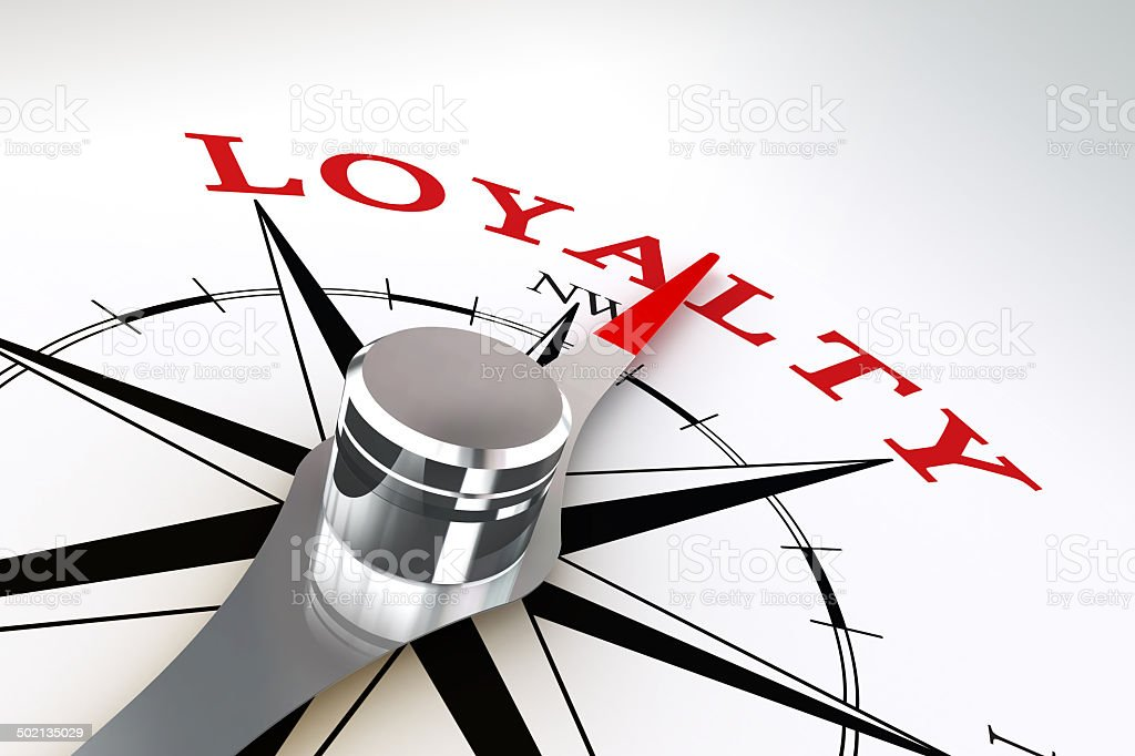 loyalty concept compass rose stock photo