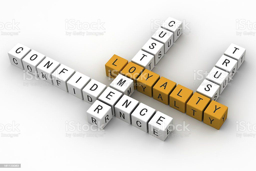 loyalty Concept crossword royalty-free stock photo