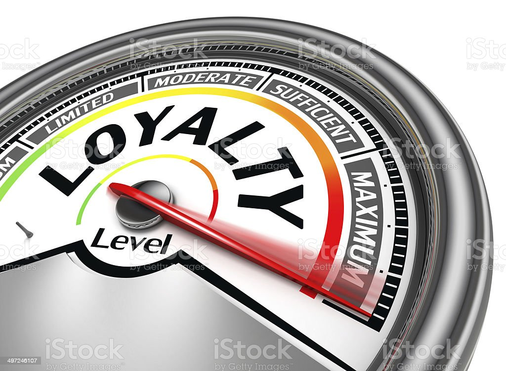 loyalty level conceptual meter stock photo