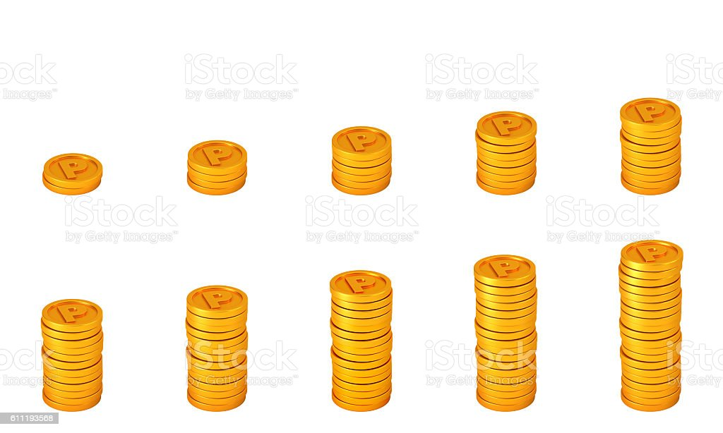 loyalty program concept. points coins stock photo