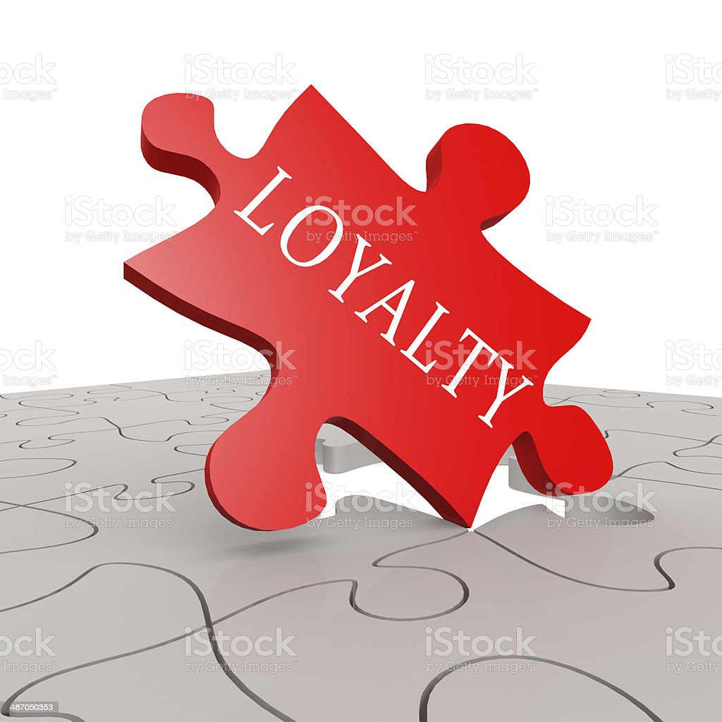 Loyalty puzzle stock photo