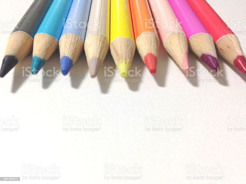 Lápis de décoration photo libre de droits