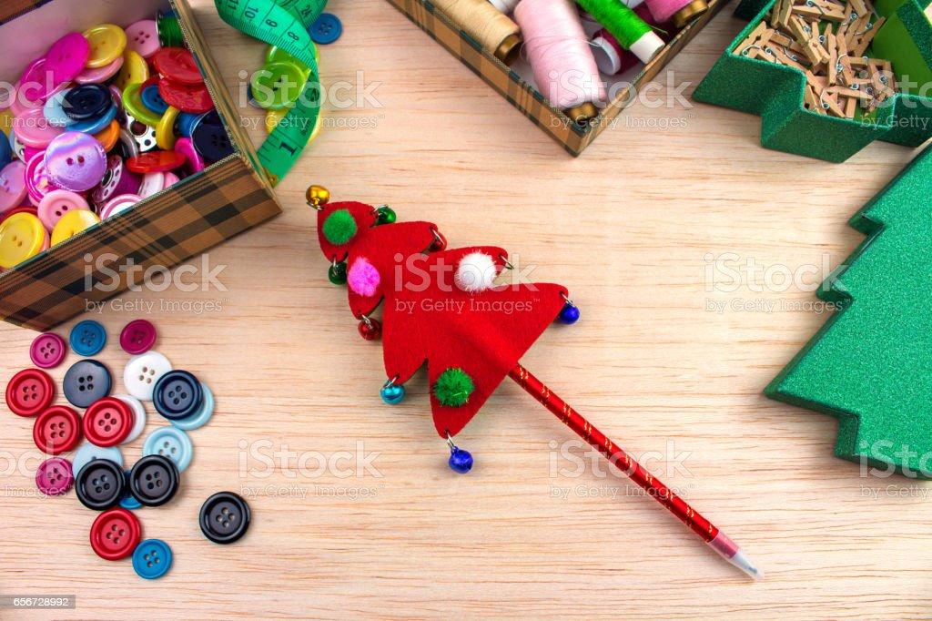 Lápiz navideño stock photo