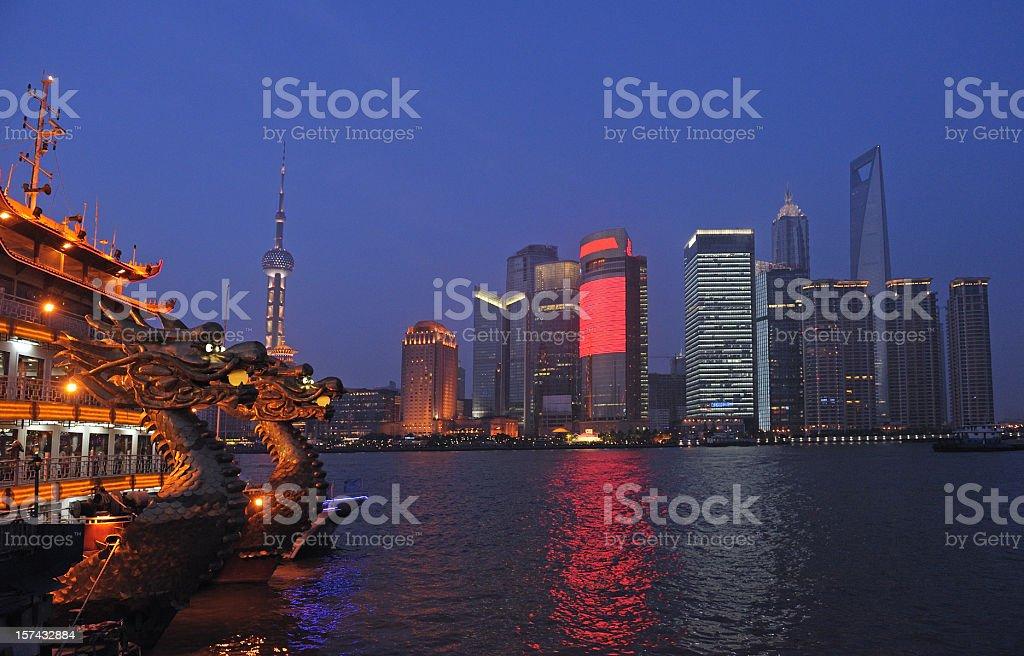 Lu Jiazui Economic zone in Pudong, Shanghai royalty-free stock photo