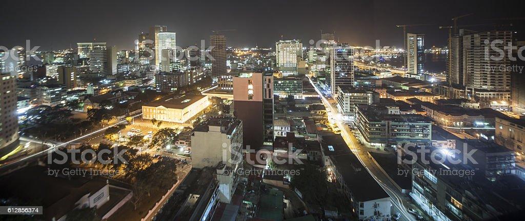 Luanda, Angola at Night stock photo