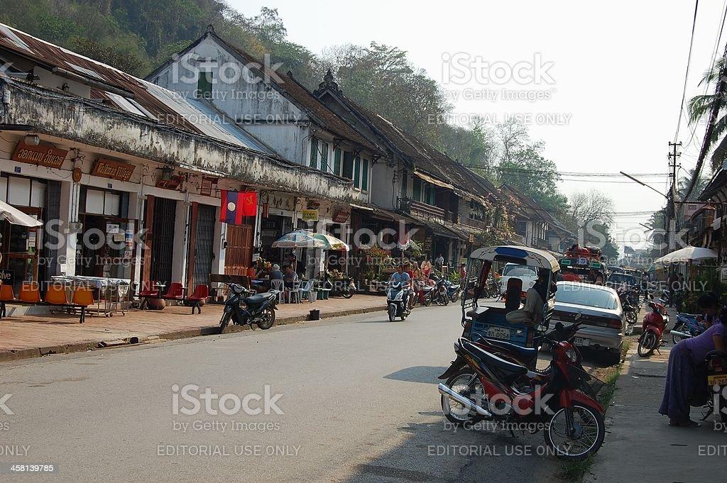 Luang Prabang city street, Laos royalty-free stock photo