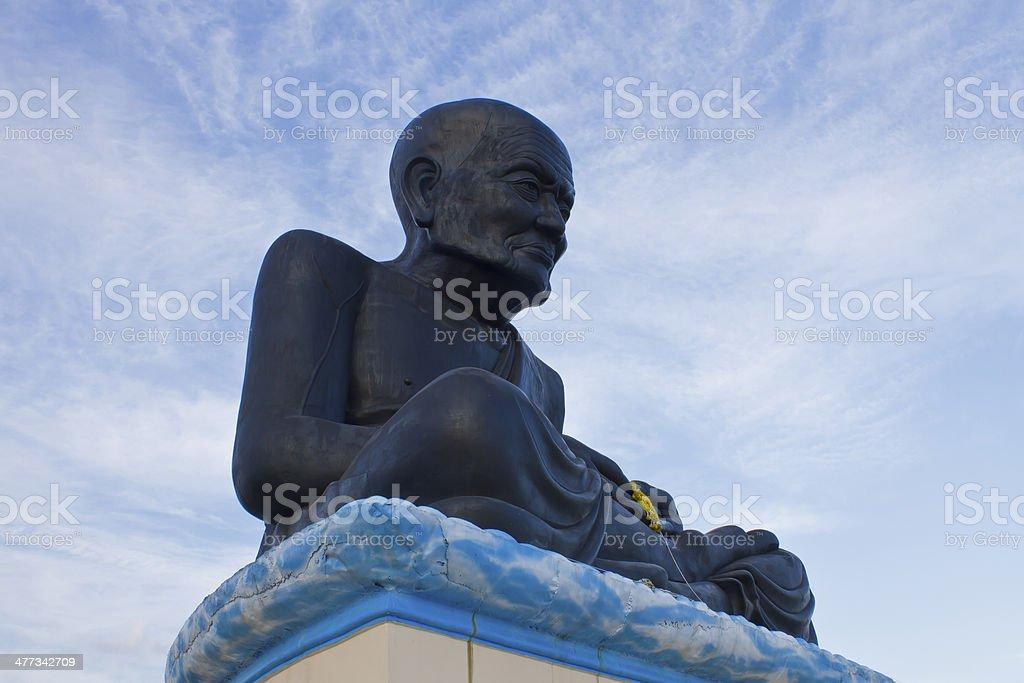 Luang Pu Thaud, buddha statue in Thai temple stock photo