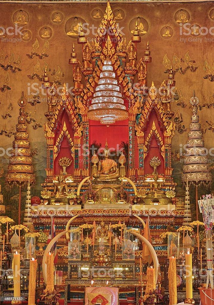 Luangpho Phra Sai The famous Buddha Image stock photo