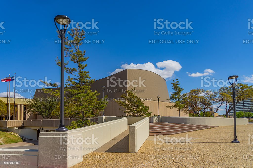 Lubbock Memorial Civic center of downtown Lubbock Texas;(P) stock photo