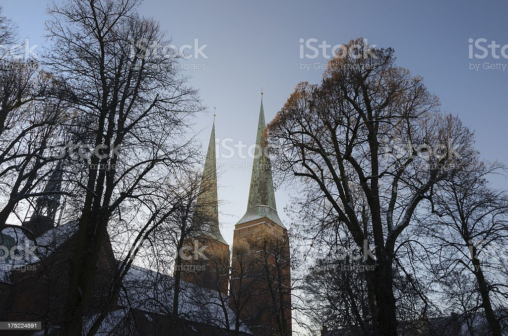 Lubeck Church Spire stock photo