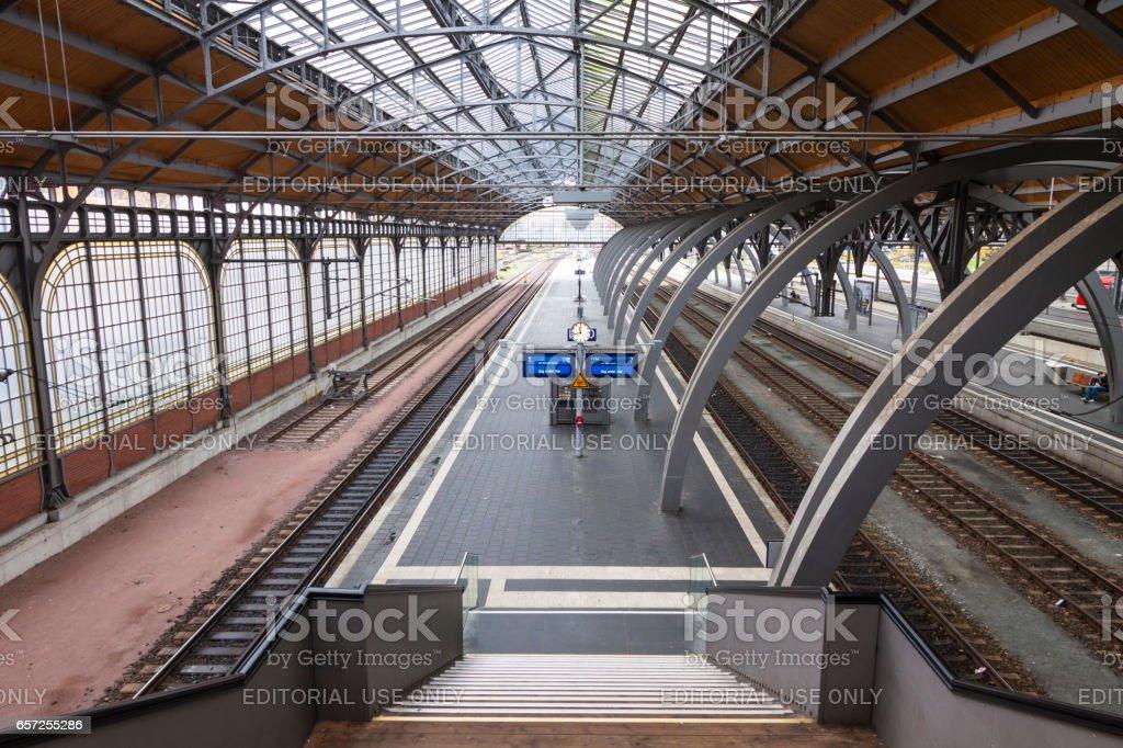 Lubeck Hbf railway station, Germany stock photo