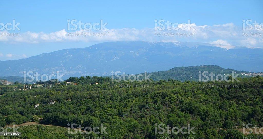 Luberon : the countryside around Venasque stock photo