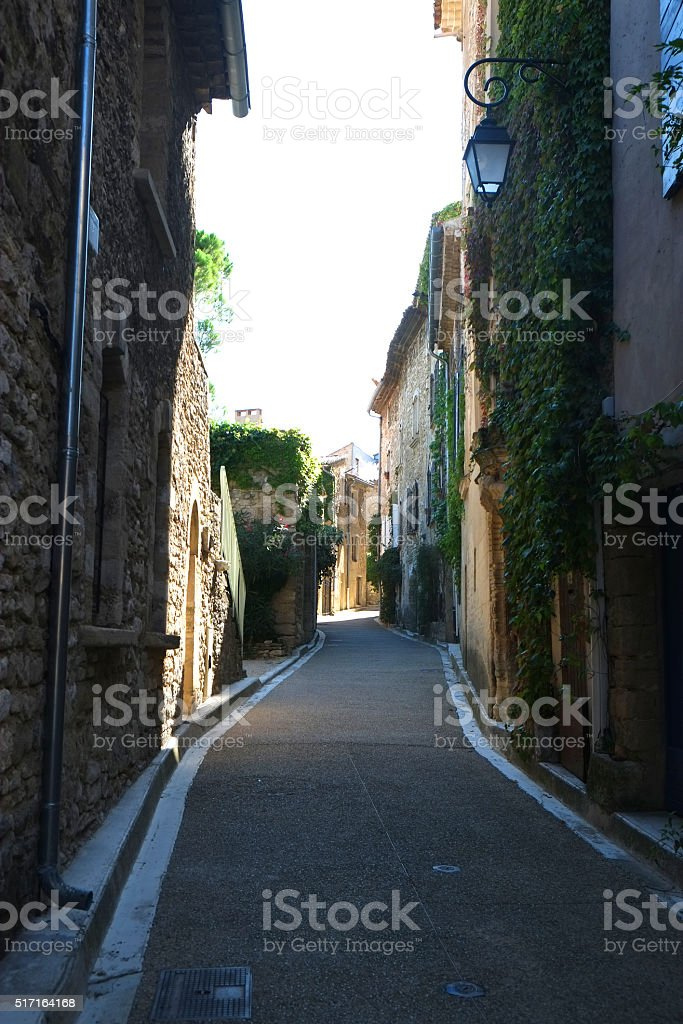 Luberon : the village of Venasque stock photo