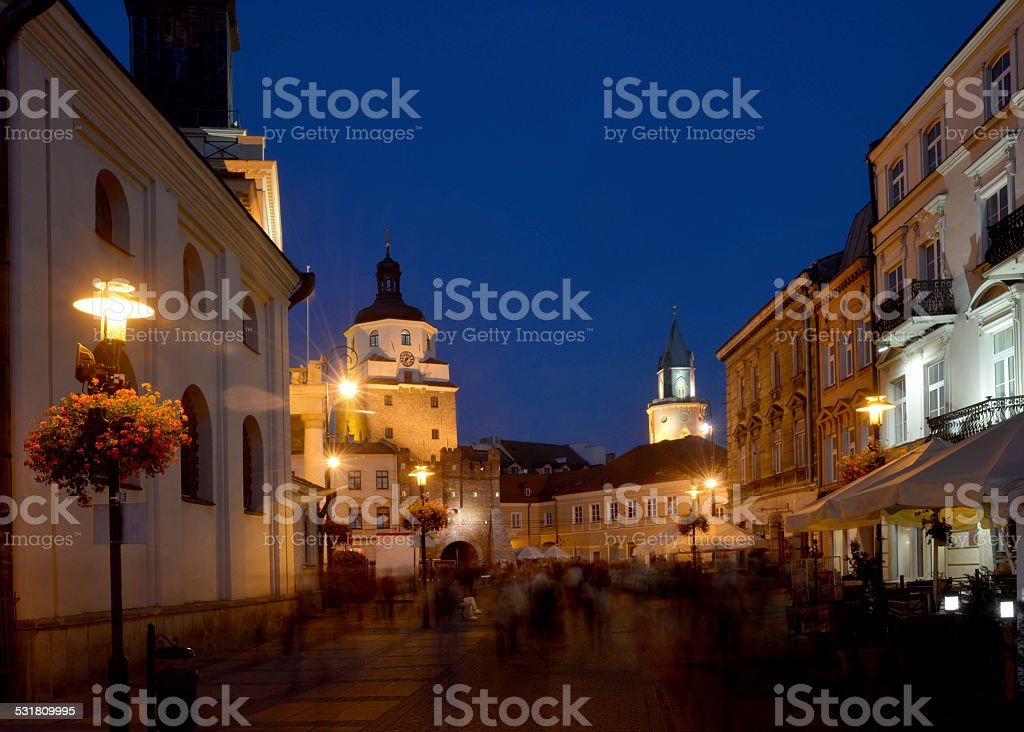 Lublin - evening view stock photo