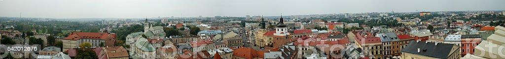 Lublin panorama stock photo
