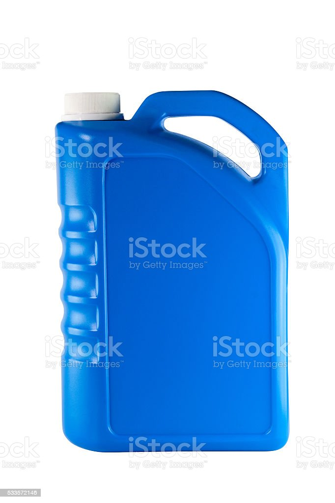 Lubricants plastic bottle stock photo