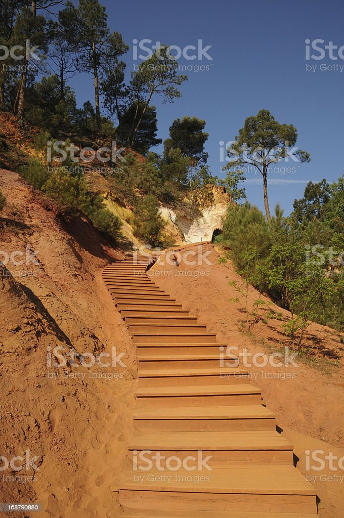 Lubéron, the Ochre Footpath in Roussillon royalty-free stock photo