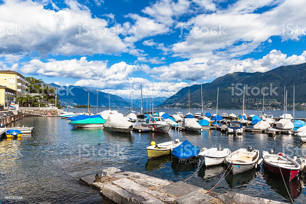 Lucarno Lake stock photo