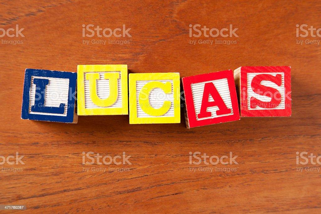 Lucas royalty-free stock photo