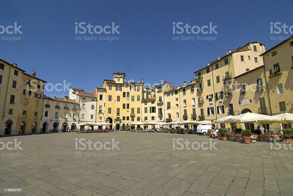 Lucca (Tuscany) - Historic square stock photo