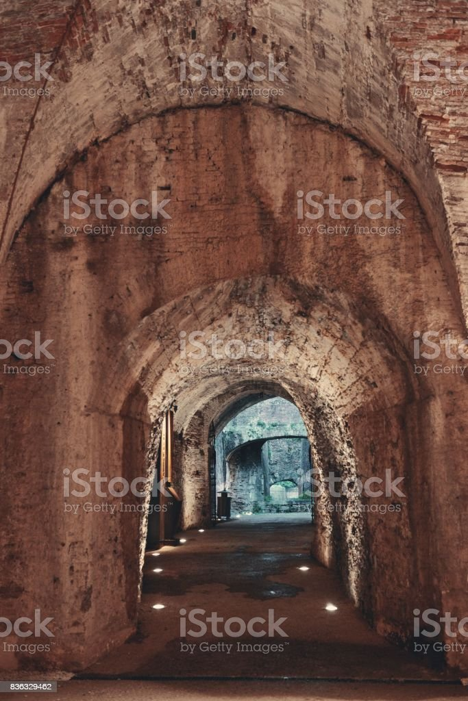 Lucca tunnel stock photo