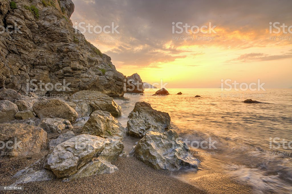 Luce al tramonto stock photo
