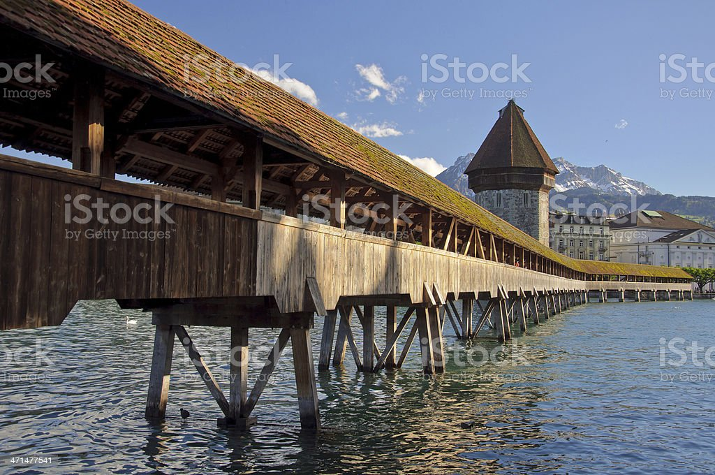 Lucerne Chapel bridge. stock photo