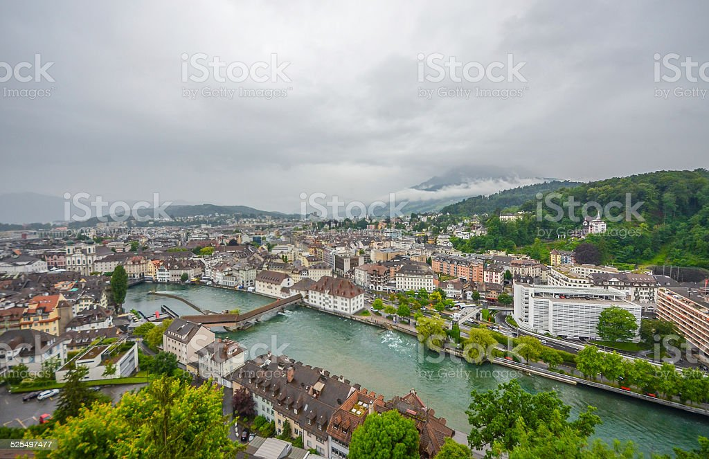 Lucerne city stock photo
