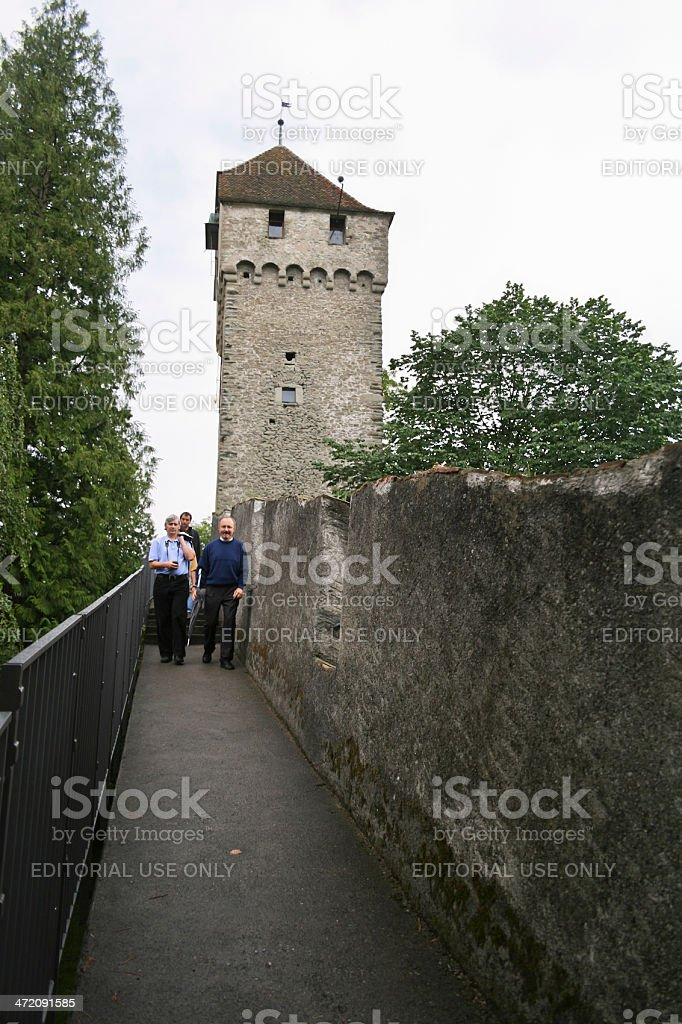 Lucerne City Wall stock photo