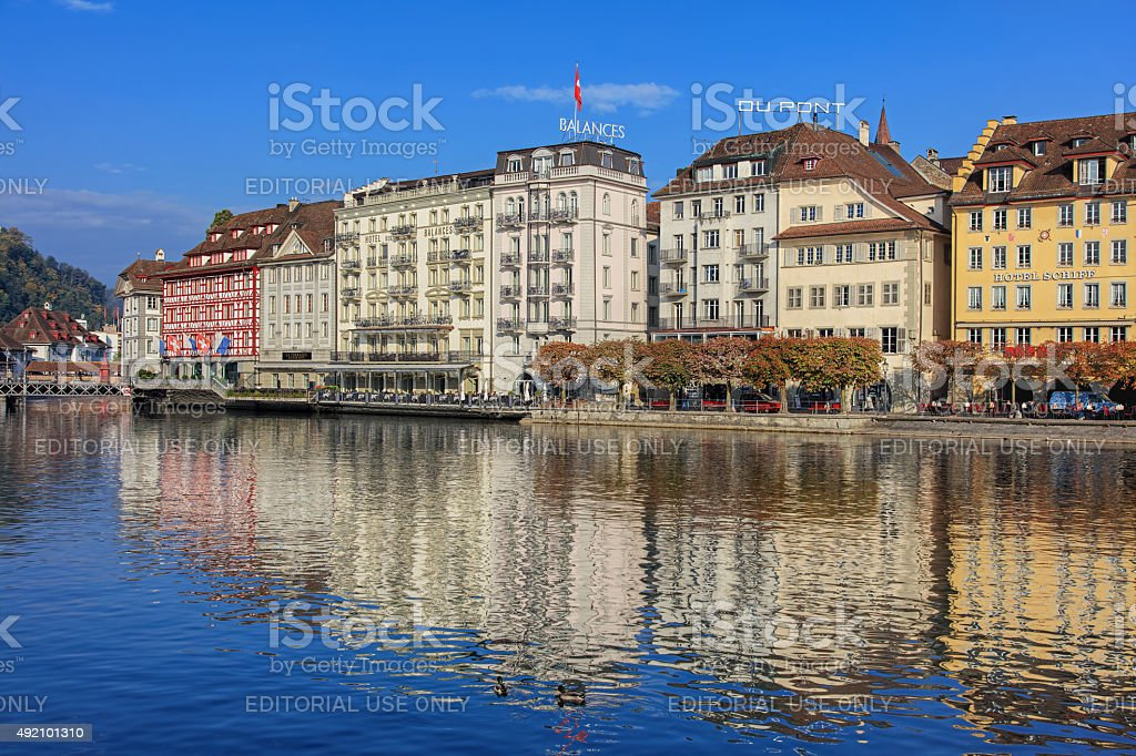 Lucerne cityscape stock photo