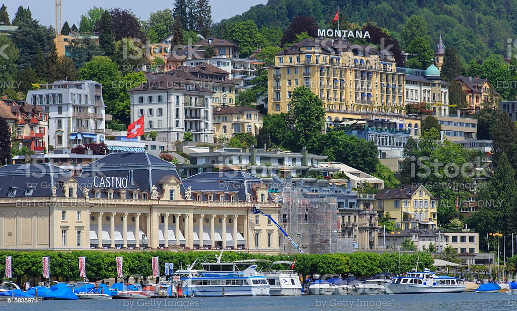 Lucerne cityscape stock photo
