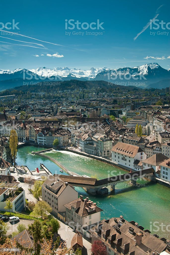 Lucerne View stock photo