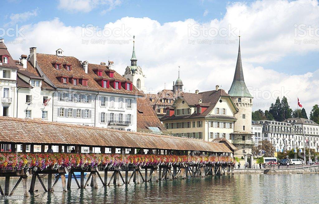 Lucerne waterfront, Switzerland stock photo