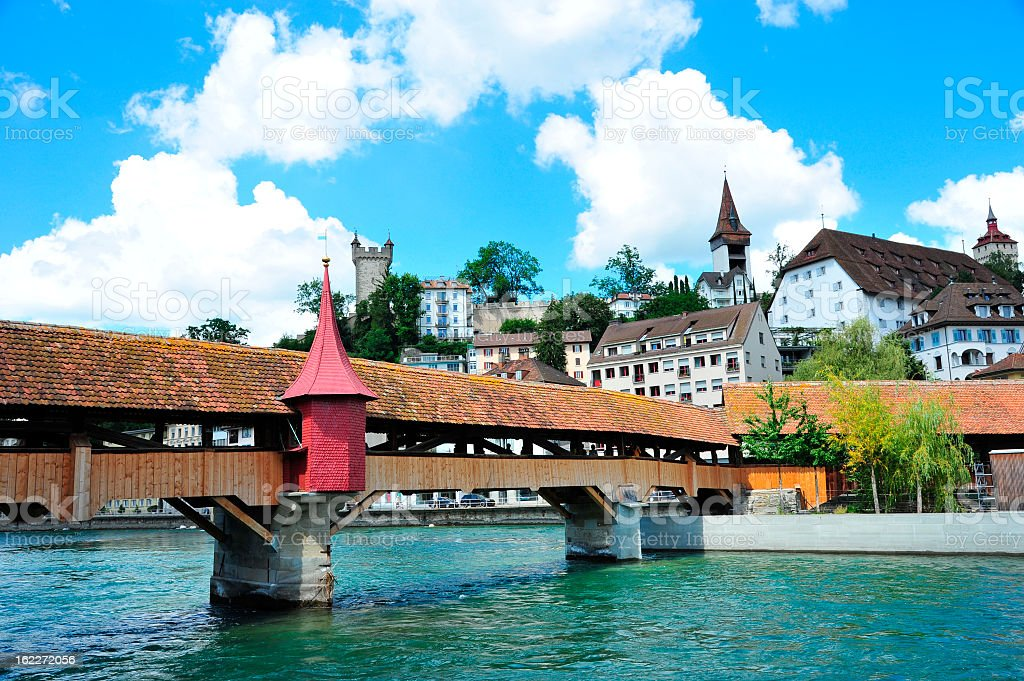 Lucerne/Luzern City View, Switzerland stock photo
