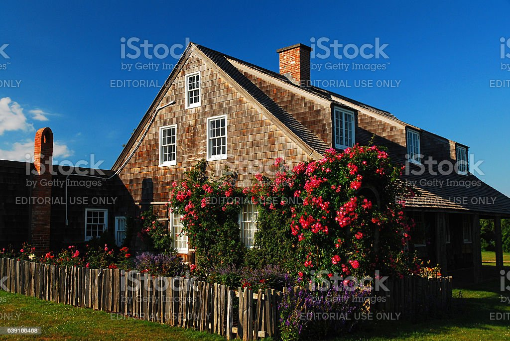 Luch Gardens of the Second House in Montauk, Long Island stock photo