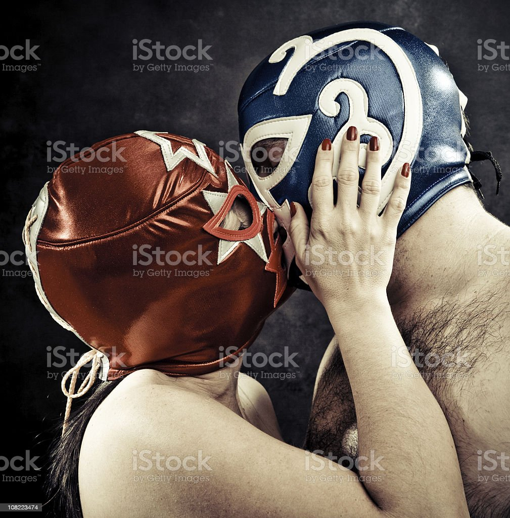 lucha libre tenderness royalty-free stock photo