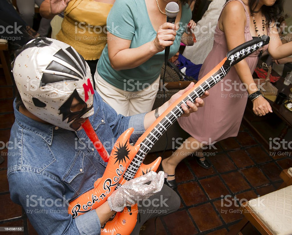 Luchador at a Party stock photo