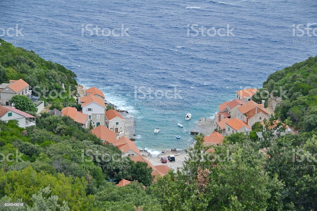 Lucica bay, Lastovo, Croatia. stock photo