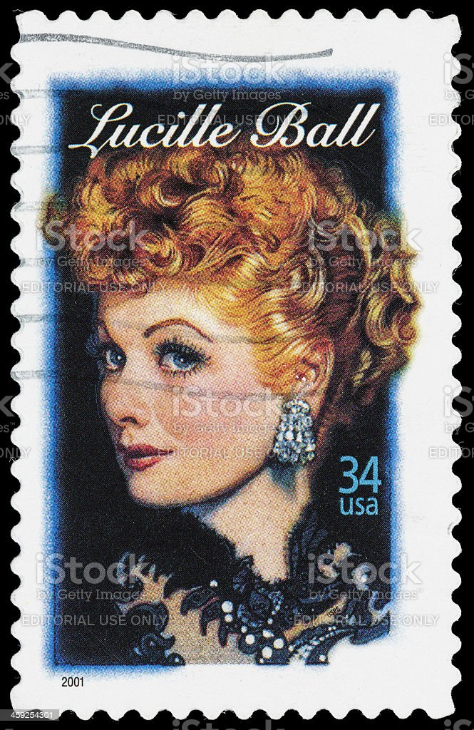USA Lucille Ball postage stamp stock photo