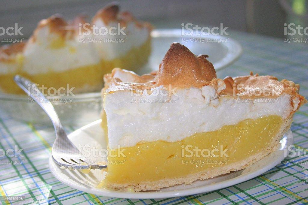 Lucious Lemon Meringue Pie stock photo