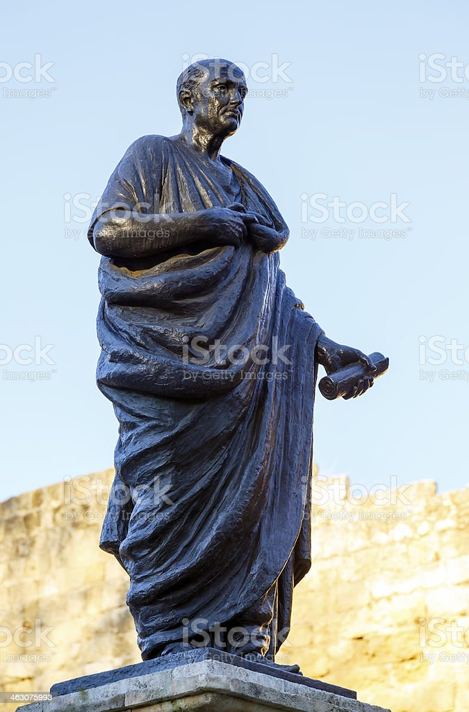Lucius Annaeus Seneca, the Younger, Cordoba, Spain stock photo